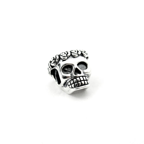 Smell The Roses Skull Couture Charm