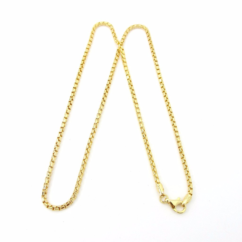 Thick Gold Overlay Rounded Box Chain