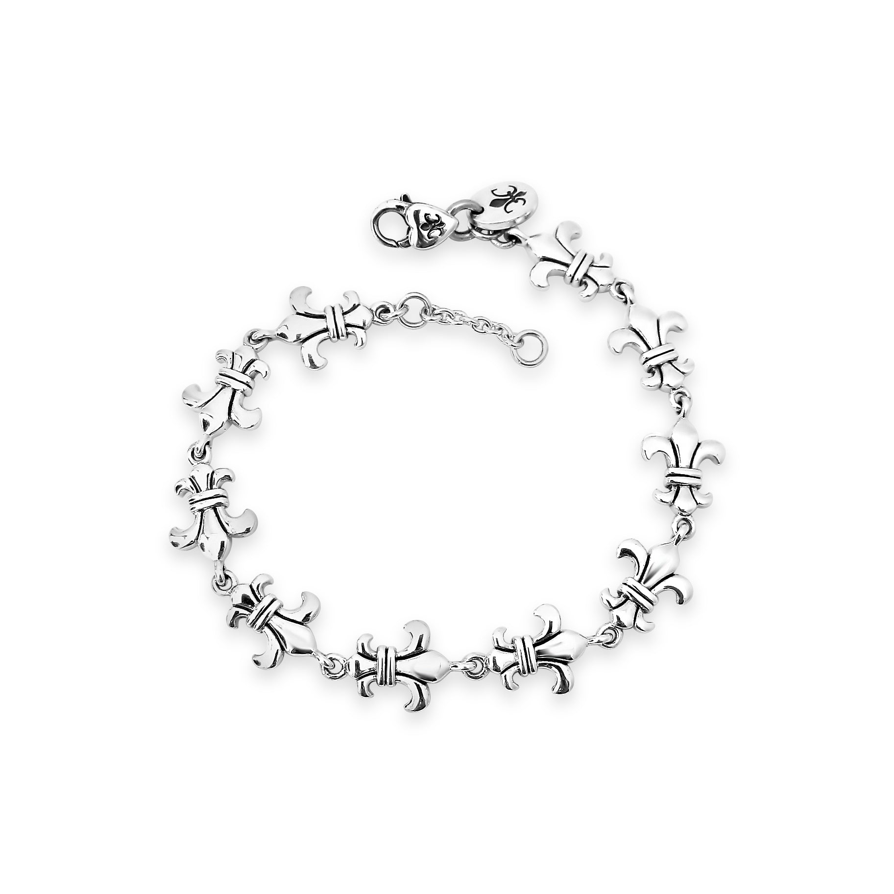 Loyalty & Dedication Fleur de Lis Dainty Bracelet
