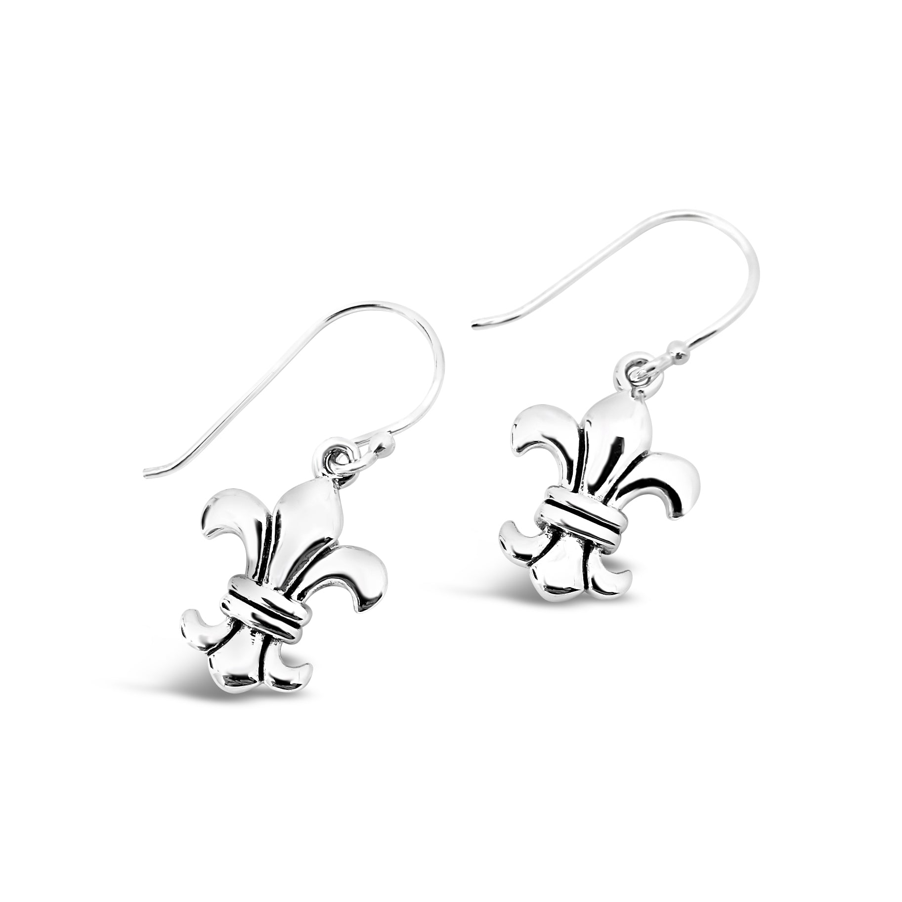 Loyalty & Dedication Fleur de Lis Large Earrings