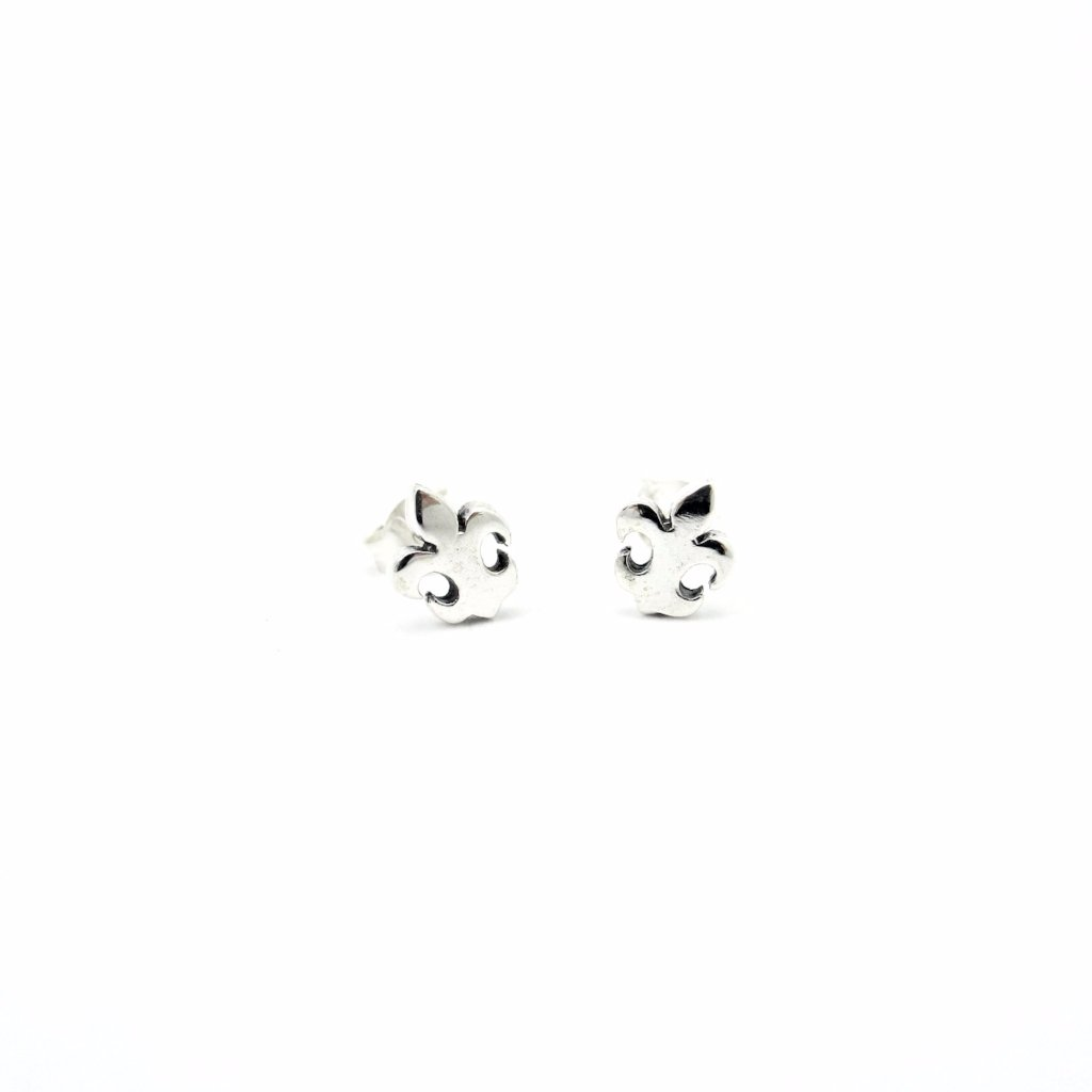 Tiny Fleur de Lis Earrings