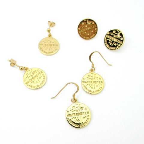 Honeycomb & Bee Earrings