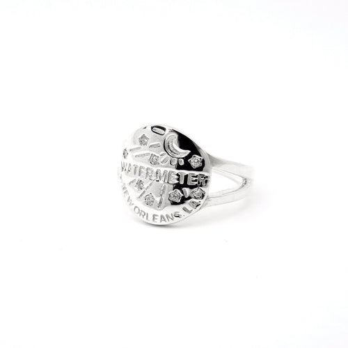 Water Meter Ring with Diamonds