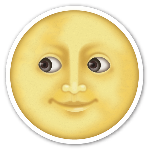 Full Moon with Face