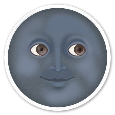 New Moon with Face