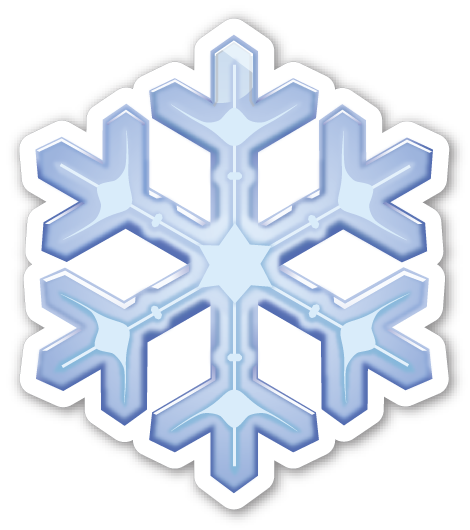 Image result for Snow emoji