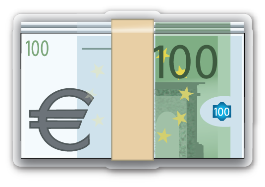 banknote with euro sign. Black Bedroom Furniture Sets. Home Design Ideas