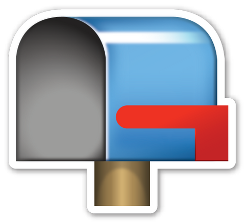 Open Mailbox with Lowered Flag