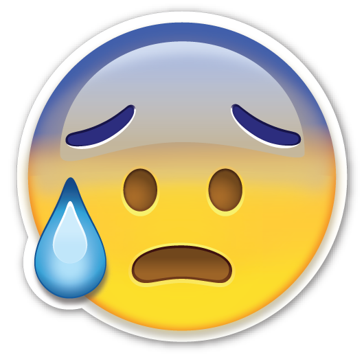 Face With Open Mouth And Cold Sweat Emojistickerscom