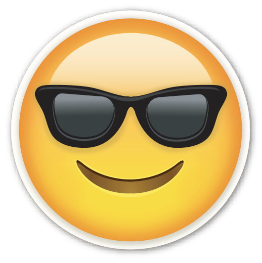 Image result for cartoon smiley face with sunglasses on