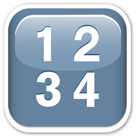 Input Symbol for Numbers