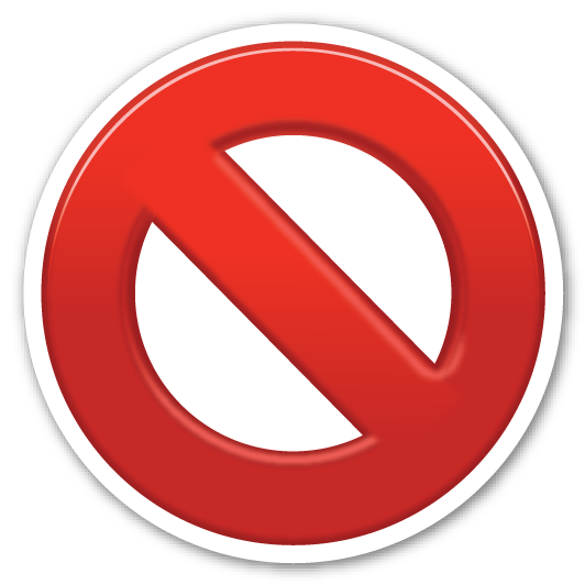 No Entry Sign Emojistickers