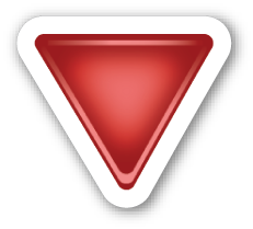 Down Pointing Red Triangle