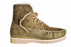 Loden Grove Boot with Sheepskin Lining