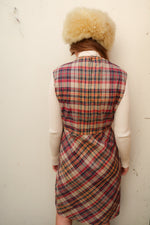 1970's Checked Midi Dress