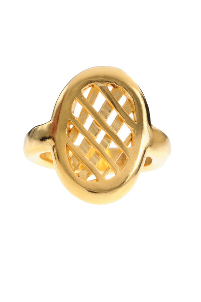 OVAL LATTICE RING