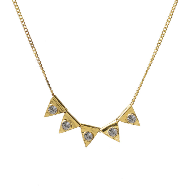 CRYSTAL TRIANGLE BEAD NECKLACE