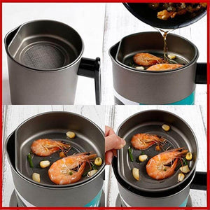 Kitchen Oil Filter Strainer Pot