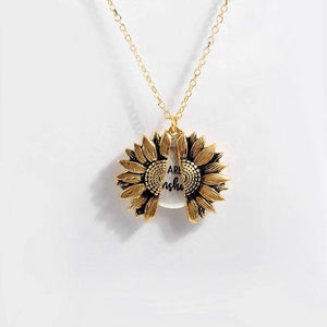 """You Are My Sunshine"" - Sunflower Necklace"