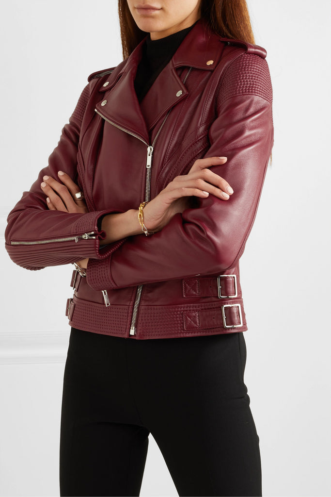 Classic Burgundy Leather Jacket - Lexther