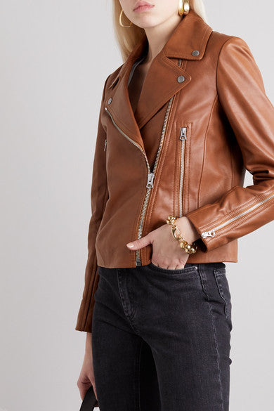 Tan Brown Genuine Leather Jacket - Lexther