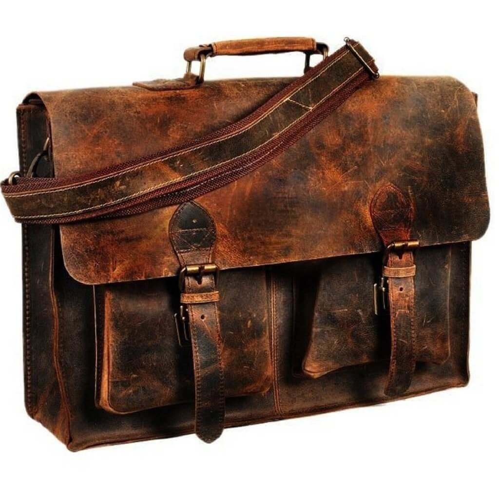 Genuine Leather Retro Rustic Handmade Bag - Lexther