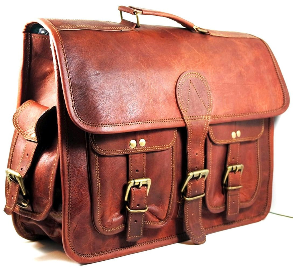 Vintage Handmade Tan Brown Leather Bag - Lexther
