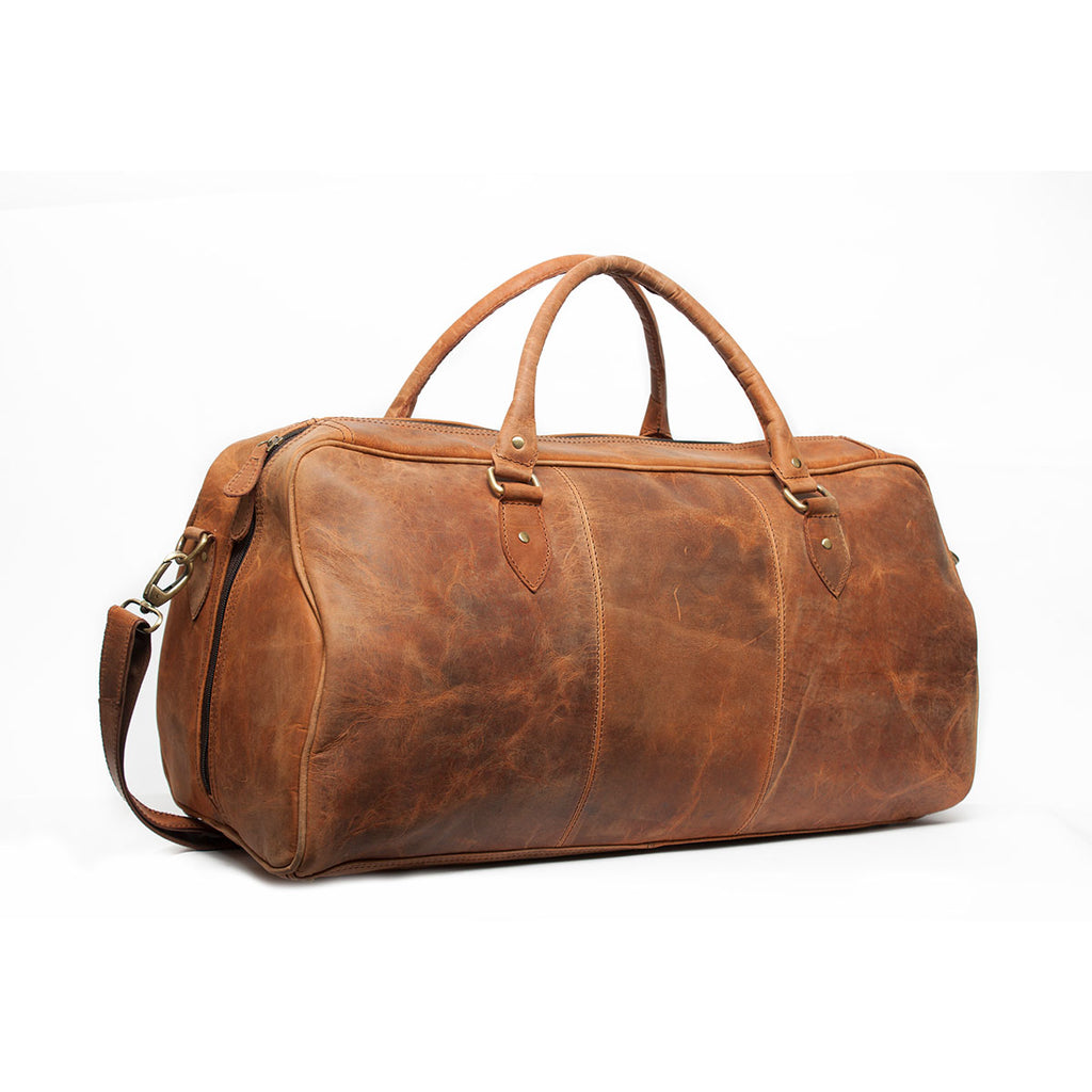 Cosmic Brown Genuine Leather Duffel Bag
