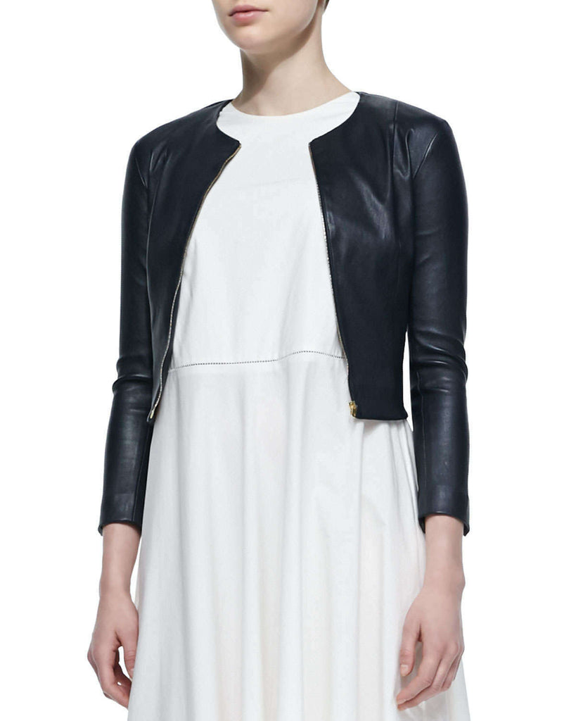 Genuine Leather Crop Jacket - Lexther