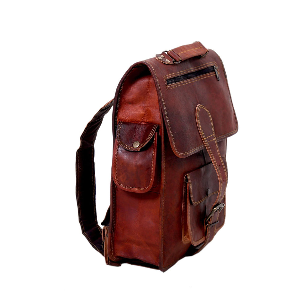 Large Handmade Genuine Leather Backpack