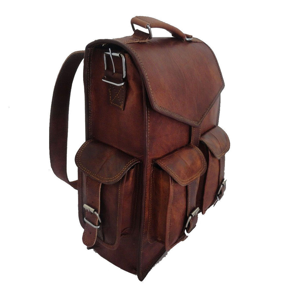 Handmade Square Backpack for Men