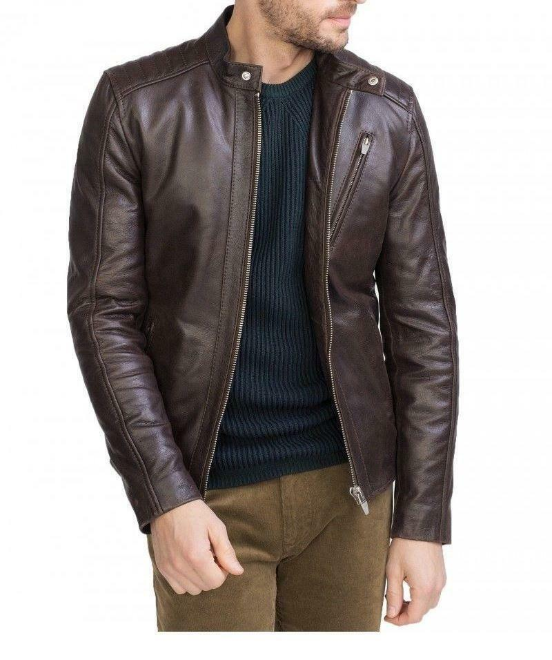 brown leather jacket - Lexther