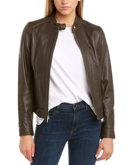 Chocolate Brown Leather Jacket - Lexther