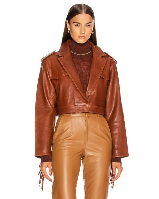 Fringed Brown Genuine Leather Jacket - Lexther