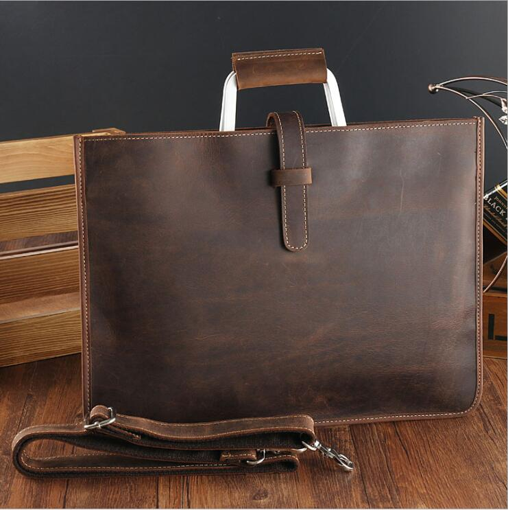 Men's Genuine Leather Envelope Clutch Bag - Lexther