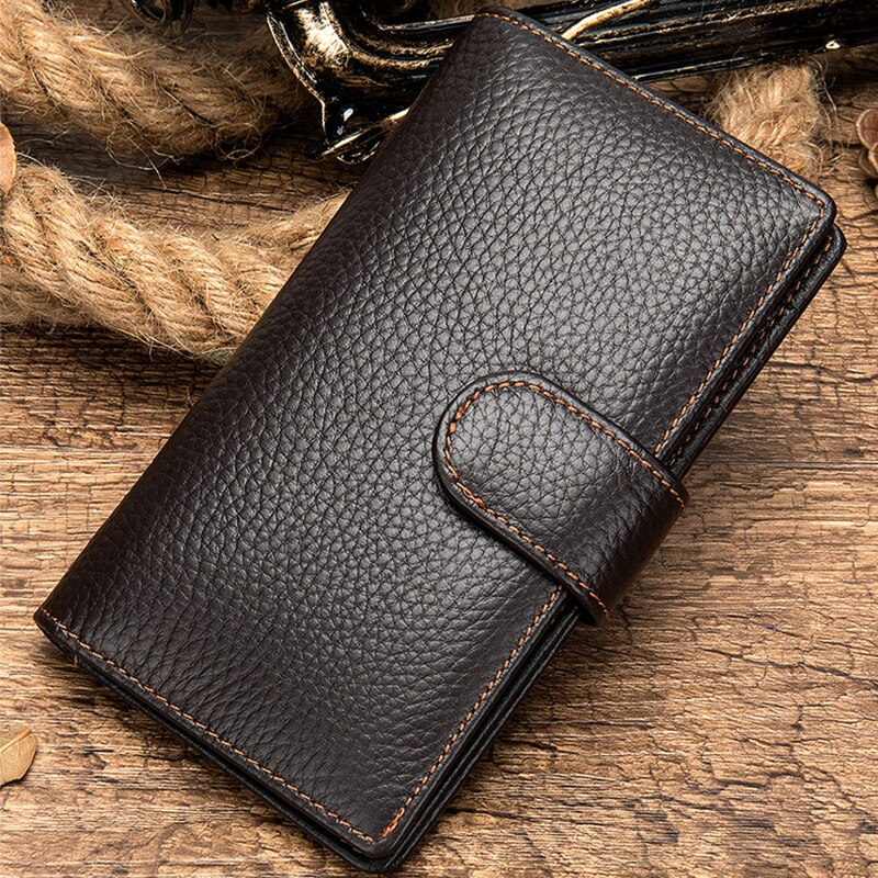 Genuine Leather Wallet with Extra Card Slots - Lexther