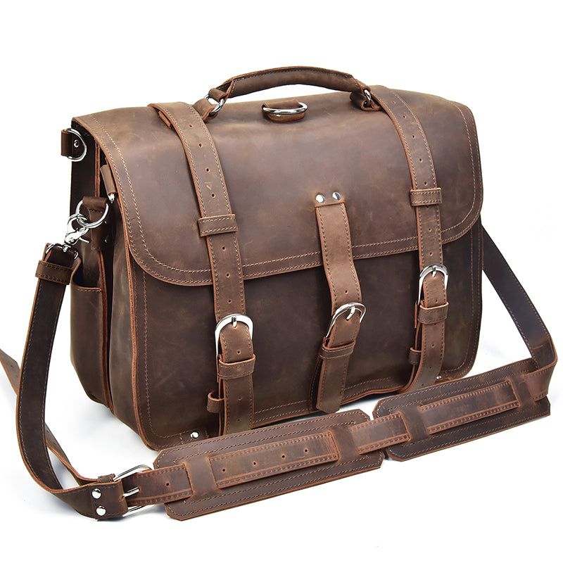 Exotic Full Grain Cow Hide Briefcase Cum Backpack - Lexther