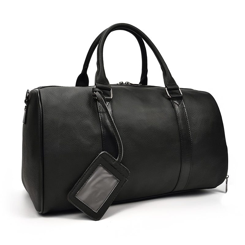 Genuine Leather Duffel Bag - Men Women Business Travel Weekend Luggage Bags - Lexther