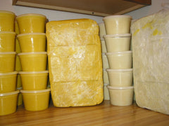 High quality shea butter comes in the colors seen here.