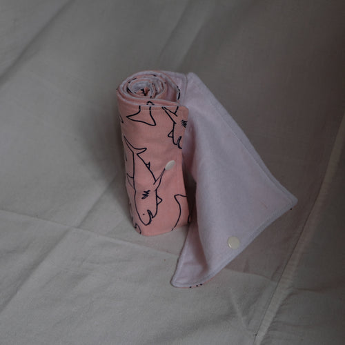Pink Shark Toilet Cloth Towel