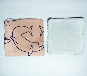 Pink Sharks Facial Square