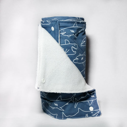 Dark Blue Shark Unpaper Towels