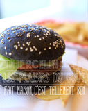 Burger noir au curry black pearl