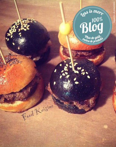 Mini Burgers Maxi plaisir et Hamburger noir au Curry Black Pearl