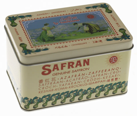 BOITE SAFRAN METAL COLLECTOR = Collection La Valenciana® = Thiercelin