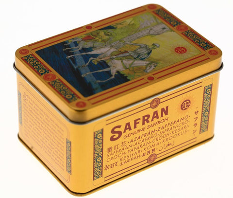 BOITE SAFRAN METAL COLLECTOR = Collection Don Quichotte = Thiercelin