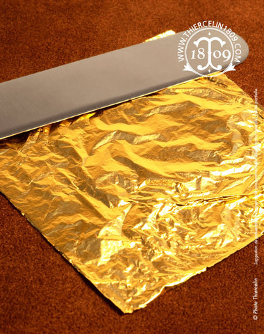Feuilles d'or alimentaire, 23 carats