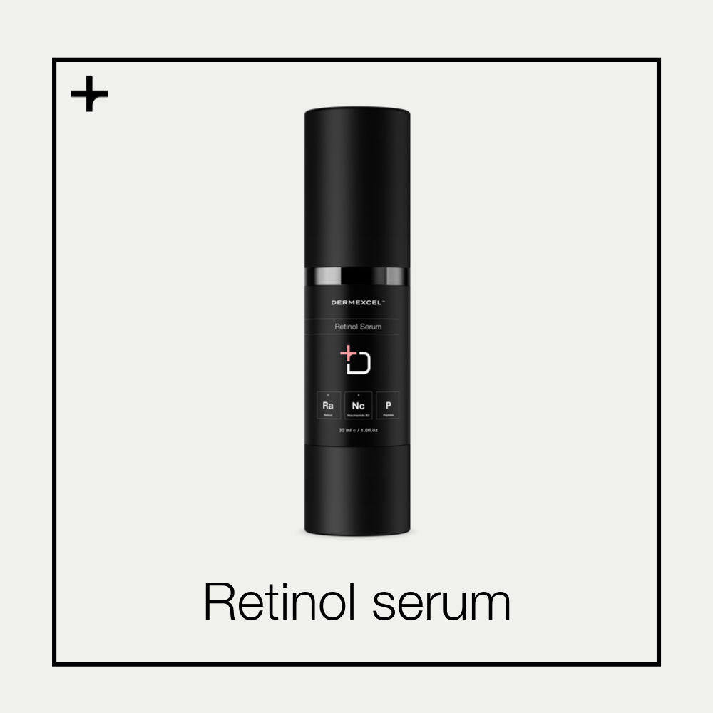 Dermexcel Retinol serum. Anti-aging serum. Cosmeceutical.