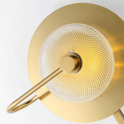 Luxury Circular Art Deco Wall Lamp