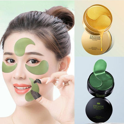 Gold/Seaweed Collagen Anti Wrinkle Face Eye Mask (60pcs)